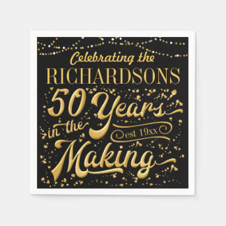 Celebrating 50 Years in the Making (50th Anniv) Disposable Napkins
