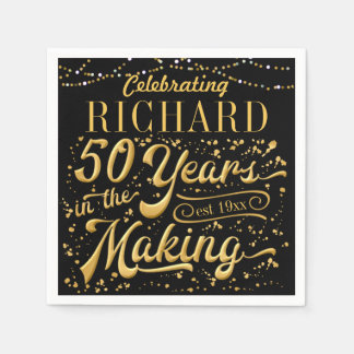 Celebrating 50 Years in the Making (50th Birthday) Paper Serviettes