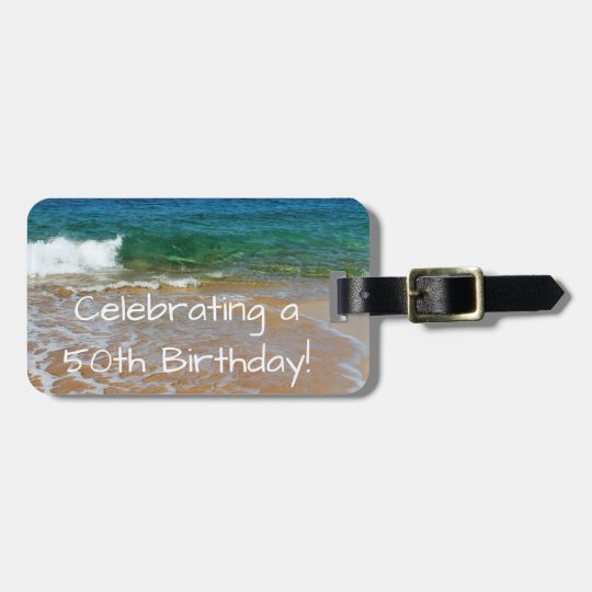 Celebrating 50th Birthday Luggage Tag