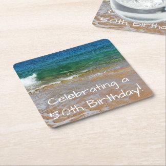 Celebrating 50th Birthday Party Coasters