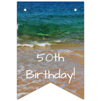 Celebrating 50th Birthday Party Flag Banner