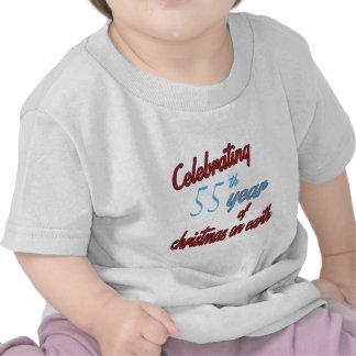 Celebrating 55 year of christmas on earth tee shirt