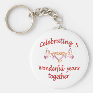 CELEBRATING 5 YEARS TOGETHER KEY RING