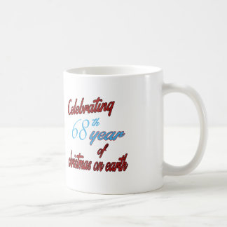 Celebrating 68th year of christmas on earth mugs