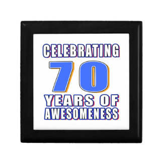 Celebrating 70 years of awesomeness trinket boxes