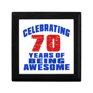 Celebrating 70 years of being awesome small square gift box