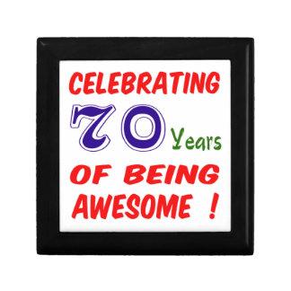 Celebrating 70 years of being awesome ! keepsake box