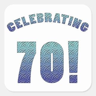 Celebrating 70th Birthday Square Sticker
