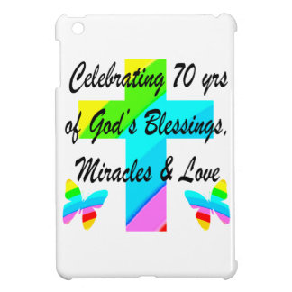 CELEBRATING 70TH BUTTERFLY AND CROSS DESIGN iPad MINI COVERS
