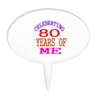 Celebrating 80 Years Of Me Cake Toppers