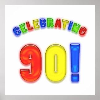 Celebrating 90th Birthday Poster