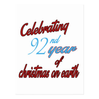 Celebrating 92nd year of christmas on earth post cards