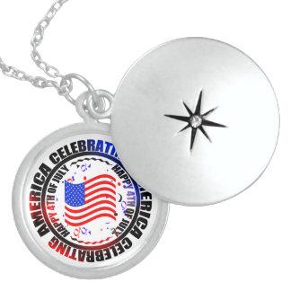 Celebrating America Happy 4th of July Locket