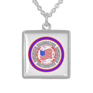 Celebrating America Happy 4th of July Necklace