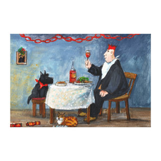 Celebrating Christmas. Canvas Print
