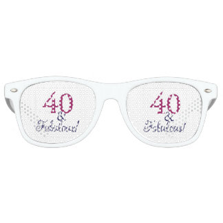 celebrating forty and fabulous retro sunglasses