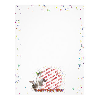 Celebrating Geese Happy New Year Photo Frame Flyer Design