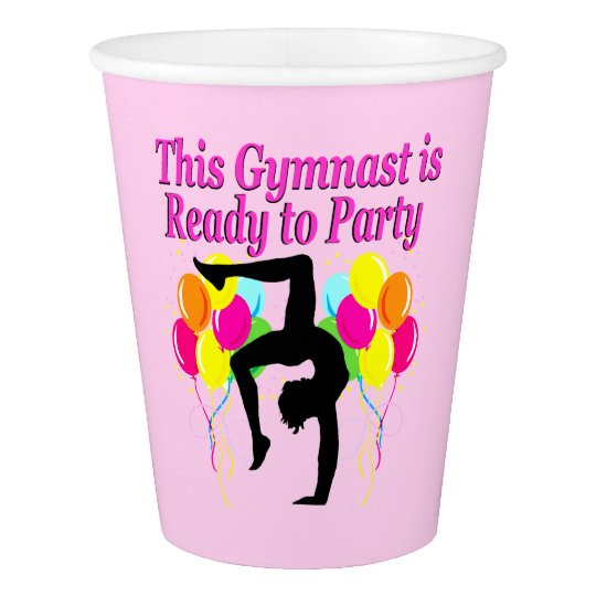 CELEBRATING GYMNASTICS PARTY PAPER CUPS