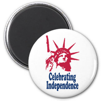 Celebrating Independence 6 Cm Round Magnet