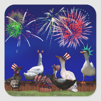 Celebrating Independence Square Sticker