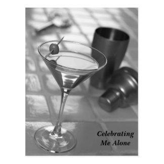 Celebrating Me Alone Postcard