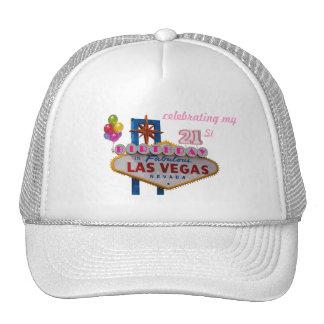 celebrating my 21st Birthday In Fabulous Las Vegas Mesh Hat