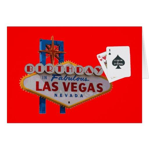 celebrating my 21st Birthday In Las Vegas Card
