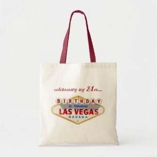 celebrating my 21st Birthday in Las Vegas tote bag