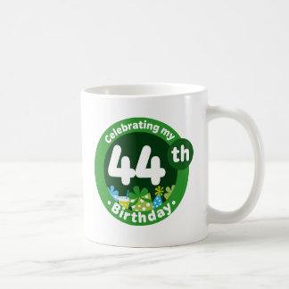 Celebrating My 44th Birthday Basic White Mug