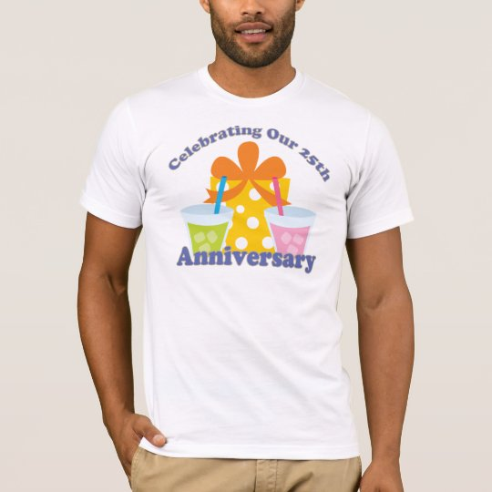 Celebrating Our 25th Anniversary Gift T-Shirt