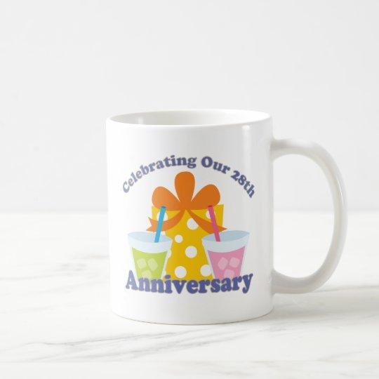 Celebrating Our 28th Anniversary Gift Coffee Mug