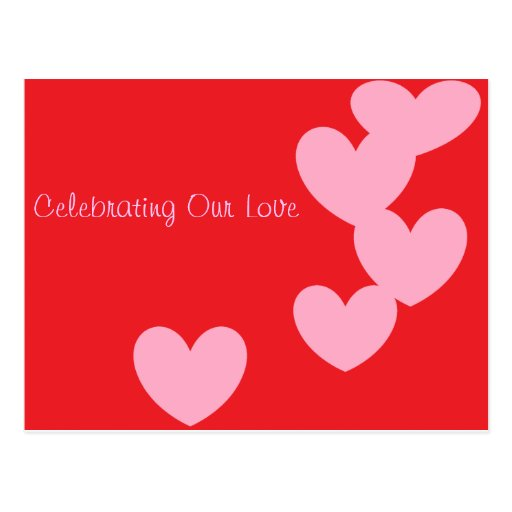 Celebrating Our Love post card