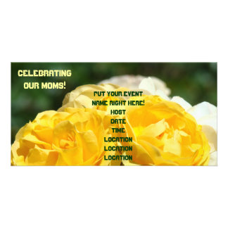 Celebrating Our Moms! Party Invitations Roses Personalised Photo Card