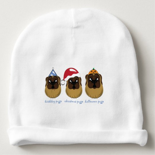 Celebrating Puggo Design Baby Beanie