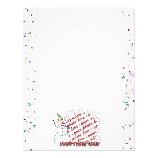Celebrating Snowman Happy New Year Photo Frame Flyer