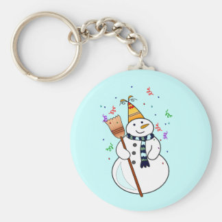 Celebrating Snowman Keychain