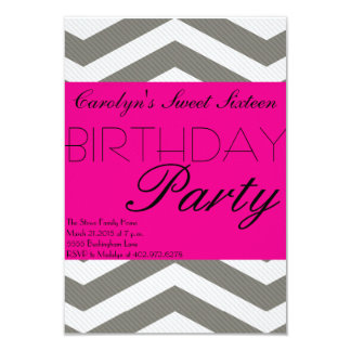 Celebrating Sweet Sixteen Birthday Invitation
