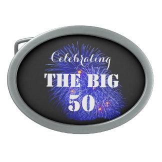 Celebrating THE BIG 50 - Oval Belt Buckle