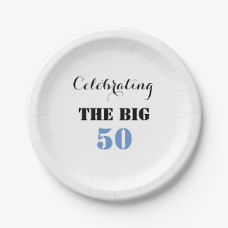 Celebrating the BIG 50 - Paper Plate 7 Inch Paper Plate