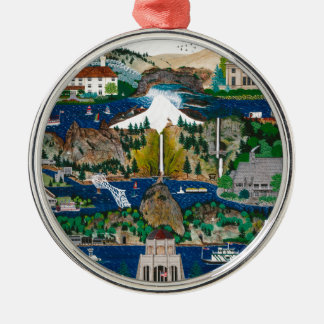 Celebrating the Columbia River Gorge Christmas Ornament