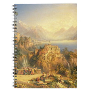 Celebrating the Grape Harvest, Lake Orta, North It Notebook