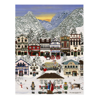 Celebrating the Holidays in Leavenworth Postcard