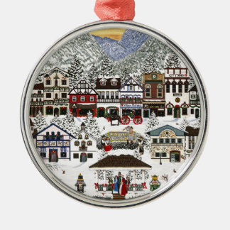 Celebrating the Holidays in Leavenworth Silver-Colored Round Decoration