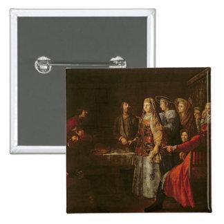 Celebrating the Wedding Agreement, 1777 15 Cm Square Badge