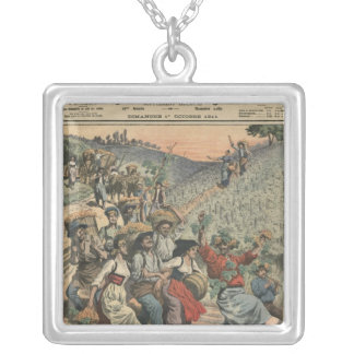 Celebrating the wine harvest in Alsace Silver Plated Necklace