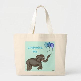 Celebration Elephant (Blue) Jumbo Tote Bag