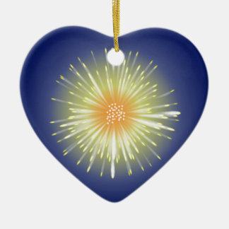 Celebration Firework Ceramic Heart Decoration