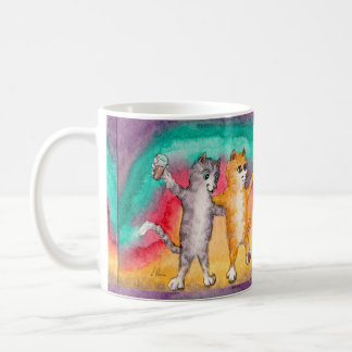 Celebration mug for best friends, party cats