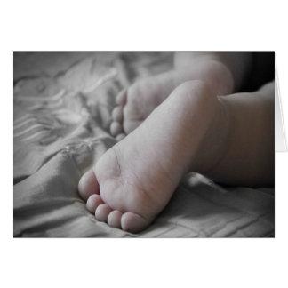 Celebration Of A Holy Baptism Baby Boy Feet I Greeting Card