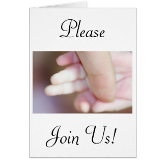Celebration Of A Holy Baptism Baby Boy Fingers Greeting Card